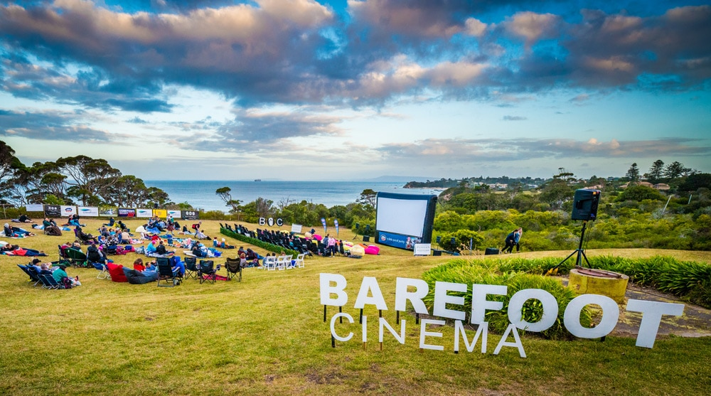 Beautiful open air cinema overlooking a bay