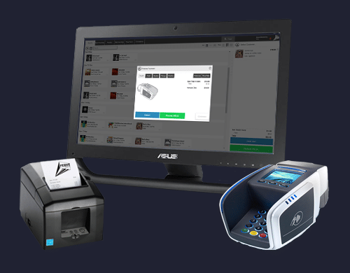 Point of sale terminal, printer and EFTPOS machine