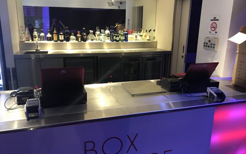 Sample box office setup with 2 POS terminals